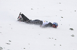 10.01.2014, Kulm, Bad Mitterndorf, AUT, FIS Ski Flug Weltcup, Probedurchgang, im Bild Sturz von Thomas Morgenstern (AUT) // crash of Thomas Morgenstern (AUT) during the Trial jump of FIS Ski Flying World Cup at the Kulm, Bad Mitterndorf, <br /> Austria on 2014/01/10, EXPA Pictures © 2014, PhotoCredit: EXPA/ Auer Erich