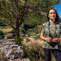 Sofia Gonzalez Berdasco is a mountain and wildlife guide and one of the founding partners of Somiedo Experience,  a small company that specialises in helping visitors view wild bears safely and without disturbing then in their natural habitat. Asturias is the only place in Europe where bears can be seen regularly and with relative ease without doing anything that may effect their natural rythum of life. Sofia grew up in the same mountains that she now guides tourists through. Her family were nomadic herders who would migrate twice per year with the seasons between their high summer pastures and lowland winter farm. A practice called 'Transhumance'. La Peral, Somiedo, Asturias, Spain on August 21st 2020.
