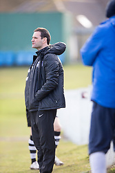 Edusport Academy coach Andy Thomson. Whitehill Welfare 2 v 1 Edusport Academy, South Challenge Cup Quarter Final played 7/3/2015 at Ferguson Park, Carnethie Street, Rosewell.