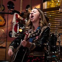 Megan Betley, a singer-songwriter from Los Angeles currently on tour through New Mexico makes a stop in Gallup at open mic night, Wednesday, Oct. 3, 2018 at Coal Street Pub.