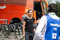 Marianne Vos (NED) of CCC-Liv Team is being interviewed before Stage 2 of 2019 OVO Women's Tour, a 62.5 km road race starting and finishing in the Kent Cyclopark in Gravesend, United Kingdom on June 11, 2019. Photo by Balint Hamvas/velofocus.com