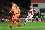 Darren Fletcher of Stoke City tries a shot at goal. Premier league match, Stoke City v Liverpool at the Bet365 Stadium in Stoke on Trent, Staffs on Wednesday 29th November 2017.<br /> pic by Chris Stading, Andrew Orchard sports photography.