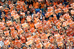 26-09-2015 NED: Volleyball European Championship Nederland - Slovenie, Apeldoorn<br /> Publiek Oranje massaal in Omnisport<br /> Photo by Ronald Hoogendoorn / Sportida