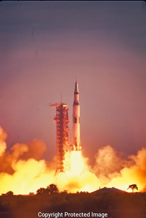Apollo blast off at Cape Kennedy in 1969.<br /><br />Photo by Dennis Brack bb72