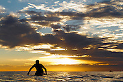 Surfer in the Ocean at San Onofre State Beach in San Clemente