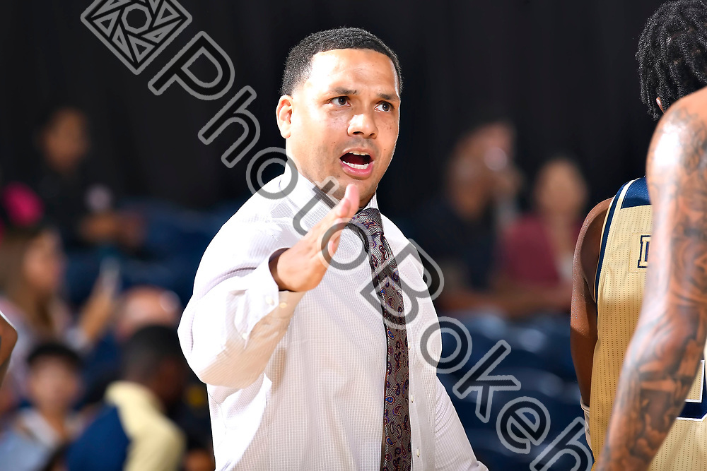 2018 November 13 - FIU's head coach Jeremy Ballard. <br /> Florida International University men's basketball defeated Milwaukee, 86-83, at Ocean Bank Convocation Center, Miami, Florida. (Photo by: Alex J. Hernandez / photobokeh.com) This image is copyright by PhotoBokeh.com and may not be reproduced or retransmitted without express written consent of PhotoBokeh.com. ©2018 PhotoBokeh.com - All Rights Reserved