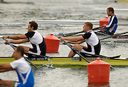 Munich, GERMANY, 2006, GBR M2X bow matt Wells and Steve Rowbotham, FISA, Rowing, World Cup,  on the Olympic Regatta Course, Munich, Fri. 26.05.2006. © Peter Spurrier/Intersport-images.com,  / Mobile +44 [0] 7973 819 551 / email images@intersport-images.com.[Mandatory Credit, Peter Spurier/ Intersport Images] Rowing Course, Olympic Regatta Rowing Course, Munich, GERMANY