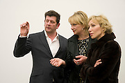 MARCUS HARVEY; LOUISA BUCK; MONA MACERKOVA;; White Riot, Marcus Harvey, White Cube. Hoxton Sq. London. 26 February 2009