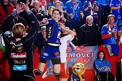 Alja Koren of Krim during 3rd Main Round of Women Champions League handball match between RK Krim Mercator, Ljubljana and Larvik HK, Norway on February 19, 2010 in Arena Kodeljevo, Ljubljana, Slovenia. Larvik defeated Krim 34-30. (Photo by Vid Ponikvar / Sportida)