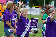 Newburgh, New York - People walked laps and watch entertainment during the Relay for Life of Newburgh at Cronomer Hill Park on June 8, 2013. The Relay for Life is the American Cancer Society's signature fundraising event. Participants celebrate the lives of people who have battled cancer, remember loved ones lost, and fight back against the disease by raising money.
