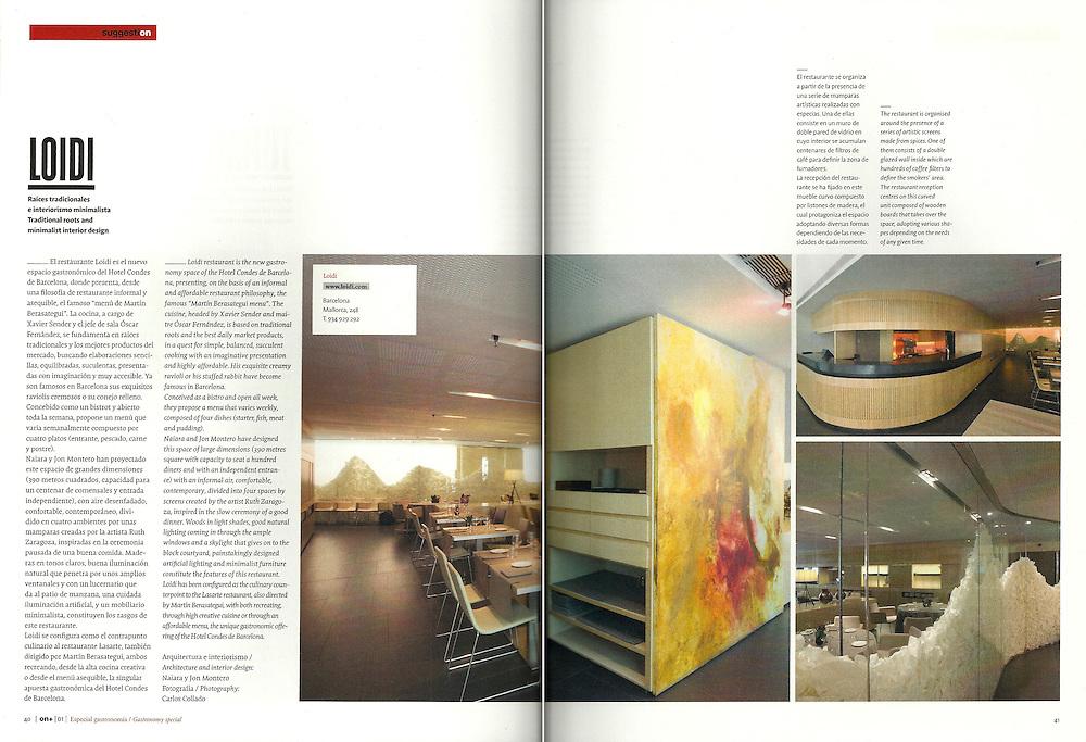 Loidi _Arquitectura e interiorismo_ Naiara y Jon Montero/ On Diseño (Dic. 2009)