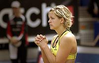 Volleyball Beachvolleyball<br />WT Stavanger 300607<br />Swatch FIVB World Tour<br />ConocoPhillips<br /> <br />Foto: Halvard Hofsmo, Digialsport<br /> <br />Laura Ludwig (GER) ber til høyere makter om seier i kampen mot Jennifer Boss og April Ross (USA), men kampen endte med tap