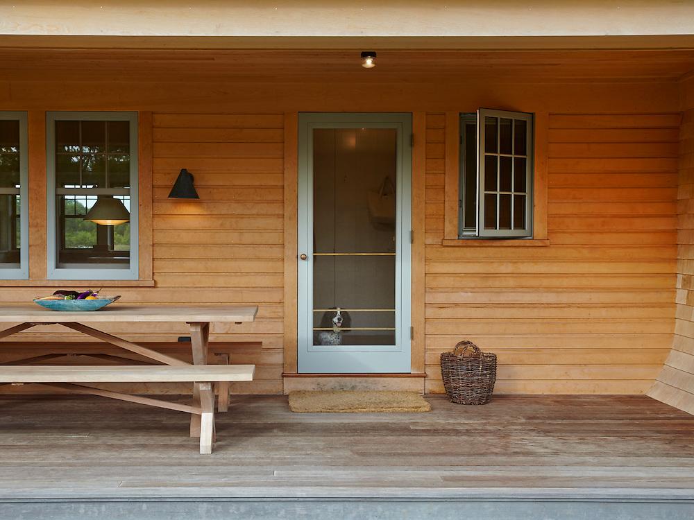 Porch and entrance of Rhode Island Coastal Home