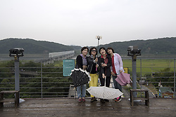 September 8, 2017 - South Korea - Tourists  in the demilitarized zone, DMZ, between North Korea and South Korea, 2017-09-06..(c) IVARSSON JERKER  / Aftonbladet / IBL BildbyrÃ¥....* * * EXPRESSEN OUT * * *....AFTONBLADET / 2826 (Credit Image: © Ivarsson Jerker/Aftonbladet/IBL via ZUMA Wire)