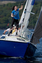 Sailing - SCOTLAND  - 25th-28th May 2018<br /> <br /> The Scottish Series 2018, organised by the  Clyde Cruising Club, <br /> <br /> First days racing on Loch Fyne.<br /> <br /> GBR8173N, Kalm, Steven Lyon, Cove, Sonata OD<br /> <br /> Credit : Marc Turner<br /> <br /> <br /> Event is supported by Helly Hansen, Luddon, Silvers Marine, Tunnocks, Hempel and Argyll & Bute Council along with Bowmore, The Botanist and The Botanist