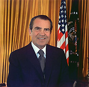 Richard Milhouse Nixon (1913-1994) 37th President of the United States of America 1969-1974. The only President to resign from office.