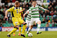 14/12/14 SCOTTISH PREMIERSHIP<br /> CELTIC V ST MIRREN<br /> CELTIC PARK - GLASGOW<br /> St Mirren's Marc McAusland (left) is marked by Celtic's Stefan Johansen.