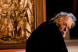 IL VILLAGGIO DI CARTONE. <br /> BARI 26 OTTOBRE 2010<br /> <br /> Michael Lonsdale sul set durante le riprese.<br /> <br /> Foto di KASH GTorsello