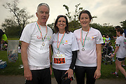 NO FEE PICTURES<br /> 28/5/16 Vivienne Traynor, Ambassador for Organ Donor Awareness 2016 with Prof Jim Egan and daughter Jessica at the Irish Kidney Association's Run For Life in support of Organ Donation at Corkagh Park in Dublin. Pictures:Arthur Carron