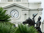 Andrew Jackson statue by sculptor Clark Mills, Jackson Square, downtown New Orleans French Quarter, USA