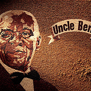 Image of Uncle Ben made up entirely of different coloured rice. Ray Massey is an established, award winning, UK professional photographer, shooting creative advertising and editorial images from his stunning studio in a converted church in Camden Town, London NW1. Ray Massey specialises in drinks and liquids, still life and hands, product, gymnastics, special effects (sfx) and location photography. He is particularly known for dynamic high speed action shots of pours, bubbles, splashes and explosions in beers, champagnes, sodas, cocktails and beverages of all descriptions, as well as perfumes, paint, ink, water – even ice! Ray Massey works throughout the world with advertising agencies, designers, design groups, PR companies and directly with clients. He regularly manages the entire creative process, including post-production composition, manipulation and retouching, working with his team of retouchers to produce final images ready for publication.