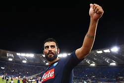 September 20, 2017 - Rome, Lazio, Italy - Raul Albiol of Napoli celebrating at the end of the match during the Serie A match between SS Lazio and SSC Napoli at Stadio Olimpico on September 20, 2017 in Rome, Italy. (Credit Image: © Matteo Ciambelli/NurPhoto via ZUMA Press)
