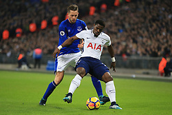 13 January 2018 -  Premier League - Tottenham Hotspur v Everton - Gylfi Sigurdsson of Everton in action with Serge Aurier of Tottenham Hotspur - Photo: Marc Atkins/Offside