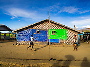 06 NOVEMBER 2014 - SITTWE, RAKHINE, MYANMAR: Men in a Rohingya Muslim IDP camp play takraw in their camp. After sectarian violence devastated Rohingya communities and left hundreds of Rohingya dead in 2012, the government of Myanmar forced more than 140,000 Rohingya Muslims who used to live in and around Sittwe, Myanmar, into squalid Internal Displaced Persons camps.The government says the Rohingya are not Burmese citizens, that they are illegal immigrants from Bangladesh. The Bangladesh government says the Rohingya are Burmese and the Rohingya insist that they have lived in Burma for generations.  The camps are about 20 minutes from Sittwe but the Rohingya who live in the camps are not allowed to leave without government permission. They are not allowed to work outside the camps, they are not allowed to go to Sittwe to use the hospital, go to school or do business. The camps have no electricity. Water is delivered through community wells. There are small schools funded by NOGs in the camps and a few private clinics but medical care is costly and not reliable.   PHOTO BY JACK KURTZ