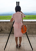 THE BOTH SIDES OF THE DMZ<br /> <br /> I first visited the Demilitarized Zone on the North Korean side in 2008. The DMZ is a 250 km long, 4km wide stretch of land that serves as a buffer zone between North and South Korea.<br /> I came back 5 times there before being banned by the North Korean regim.<br /> I visited the DMZ on the South Korean side twice in 2016 and 2017.<br /> The both sides have huge differences but not in the way you may expect sometimes...<br /> The two Koreas have signed armistice but not peace. The Joint Security Area in Panmunjom is called a « demilitarized zone », but in fact it is the most armed zone in the world and also a major touristic attraction both in North and South with more than 100 000 tourists coming there every year.<br /> <br /> Photo shows:  In North Korea they have a special section the tourists can visit called « The Wall ».<br /> According to North Korea, between 1977 and 1979, South Korean and USA built a concrete wall along the DMZ. North Korea began to propagate this news after the fall of the Berlin Wall in 1989, for the symbol.<br /> The United States and South Korea still deny the wall existence.<br /> The US soldier during my visit said there is no wall, it is just propaganda.<br /> ©Eric Lafforgue/Exclusivepix Media