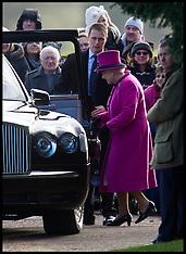 Dec 30- 2012 HM The Queen at Sandringham Church