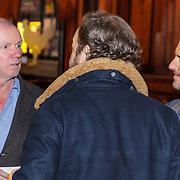 NLD/Amsterdam/20190107 - nloop voorpremière Stan & Ollie, Evert Santegoeds in gesprek met Carlo Boszhard en partner Herald Adolfs