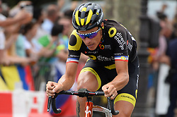 France's Sylvain Chavanel, competing his 18th and last Tour de France, arrives on the Champs-Elysees Avenue as he rides during the 21st and last stage of the 105th edition of the Tour de France cycling race between Houilles and Paris Champs-Elysees, France, on July 29, 2018. Photo by Eliot Blondet/ABACAPRESS.COM