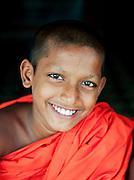 A young buddhist monk at the Mulkirigala Monastery, Sri Lanka