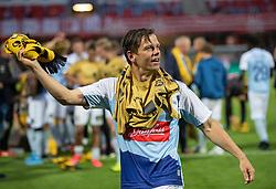 Mads Albæk (SønderjyskE) jubler efter finalen i Sydbank Pokalen mellem AaB og SønderjyskE den 1. juli 2020 i Blue Water Arena, Esbjerg (Foto Claus Birch).