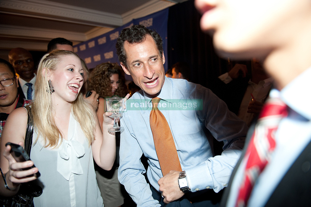 Sept. 10, 2013 - Manhattan, New York, U.S. - NYC Mayoral candidate ANTHONY WEINER makes a concession speech at his election night party at Connolly's on East 47th Street, Tuesday, September 10, 2013. (Credit Image: © Bryan Smith/ZUMAPRESS.com)