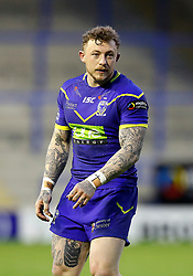 Warrington Wolves' Josh Charnley in action against Huddersfield Giants, during the Betfred Super League match at the Halliwell Jones Stadium, Warrington. PRESS ASSOCIATION Photo. Picture date: Friday April 27, 2018. See PA story RUGBYL Warrington. Photo credit should read: Martin Rickett/PA Wire. RESTRICTIONS: Editorial use only. No commercial use. No false commercial association. No video emulation. No manipulation of images.