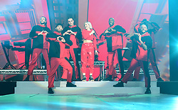 Anne-Marie on stage during day one of Capital's Jingle Bell Ball with Coca-Cola at London's O2 Arena.