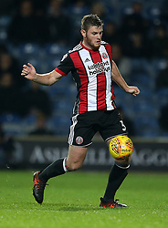 """Sheffield United's Jack O'Connell in action during the game during the Sky Bet Championship match at Loftus Road, London. PRESS ASSOCIATION Photo. Picture date: Tuesday October 31, 2017. See PA story SOCCER QPR. Photo credit should read: Steven Paston/PA Wire. RESTRICTIONS: EDITORIAL USE ONLY No use with unauthorised audio, video, data, fixture lists, club/league logos or """"live"""" services. Online in-match use limited to 75 images, no video emulation. No use in betting, games or single club/league/player publications."""