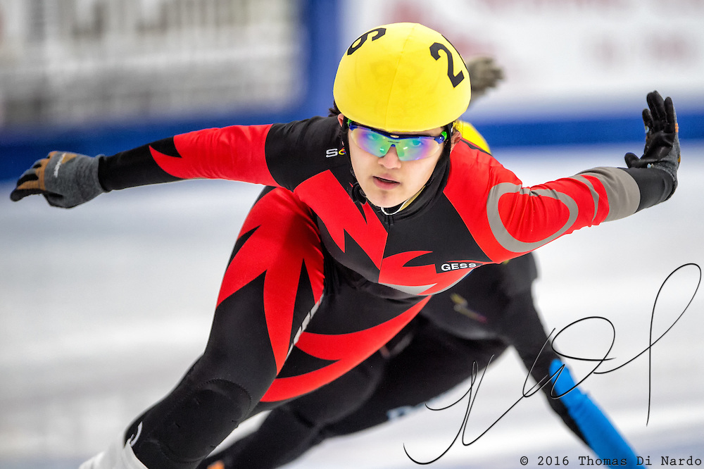 March 18, 2016 - Verona, WI - Brianne Molenda, skater number 26 competes in US Speedskating Short Track Age Group Nationals and AmCup Final held at the Verona Ice Arena.