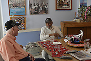 Civil rights iconic James Meredith speaks to legendary Mississippi writer Bill Minor in Bill's home office Wednesday April 8,2015. Meredith and Minor share over  years of history and a shared respect for each other. Meredith has published over 20 books and has spoken at over 70 libraries in his home state of Mississippi. While Bill Mionr has covered the State of Mississippi and has published a political column for over 70 years. Photo © Suzi Altman