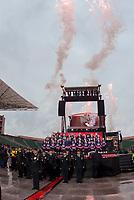 REGINA, SK - MAY 17: The MasterCard Memorial Cup opening ceremonies at Mosaic Stadium on May 17, 2018 in Regina, Canada. (Photo by Marissa Baecker/Shoot the Breeze)