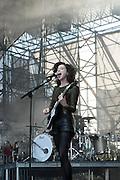 """June 2, 2012- Philadelphia, PA, United States: Recording Artist Anna Clark(St. Vincent) attends the 5th Annual ROOTS Picnic held at Festival Pier at Penn's Landing in Philadelphia, PA . The Roots is an American hip hop/neo soul band formed in 1987 by Tariq """"Black Thought"""" Trotter and Ahmir """"Questlove"""" Thompson in Philadelphia, Pennsylvania. They are known for a jazzy, eclectic approach to hip hop which includes live instrumentals. (Photo by Terrence Jennings)"""