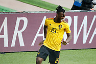 Michy Batshuayi of Belgium celebrates after scoring during the 2018 FIFA World Cup Russia, Group G football match between Belgium and Tunisia on June 23, 2018 at Spartak Stadium in Moscow, Russia - Photo Tarso Sarraf / FramePhoto / ProSportsImages / DPPI