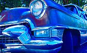 Antique Auto, 50s Oldsmobile, Blue cast