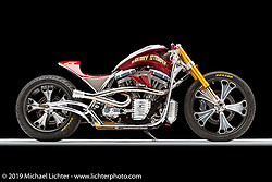 Roland Sands' Glory Stomper 2005 Discovery Channel Street Fighter custom. Photographed by Michael Lichter in Sturgis, SD. {July} {31}, {2020}. ©{2020} Michael Lichter