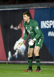 Bristol City goalkeeper, Frank Fielding is poised for action in the FA Cup third round replay between Bristol City and Doncaster Rovers at Ashton Gate on January 14, 2015 in Bristol, England. - Photo mandatory by-line: Paul Knight/JMP - Mobile: 07966 386802 - 13/01/2015 - SPORT - Football - Bristol - Ashton Gate Stadium - Bristol City v Doncaster Rovers - FA Cup third round replay