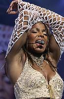 Janet Jackson performs at the MCI Center, Washington, DC