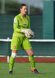 Arsenal Ladies goalkeeper Emma Byrne - Photo mandatory by-line: Paul Knight/JMP - Mobile: 07966 386802 - 09/05/2015 - SPORT - Football - Bristol - Stoke Gifford Stadium - Bristol Academy Women v Arsenal Ladies FC - FA Women's Super League