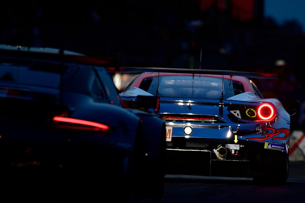 #61 Clearwater Racing Ferrari 488 GTE: Weng Sun Mok, Keita Sawa, Matthew Griffin<br /> Wednesday 13 June 2018<br /> 24 Hours of Le Mans<br /> 2018 24 Hours of Le Mans<br /> Circuit de la Sarthe  FR<br /> World Copyright: Scott R LePage