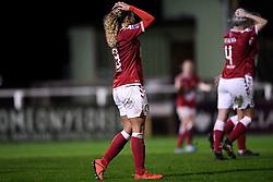 Ebony Salmon of Bristol City Women rues her missed shot - Mandatory by-line: Ryan Hiscott/JMP - 14/11/2020 - FOOTBALL - Twerton Park - Bath, England - Bristol City Women v Tottenham Hotspur Women - Barclays FA Women's Super League
